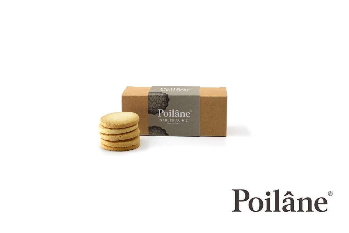 Mini-réglette sablés riz, Poilâne (120 g)