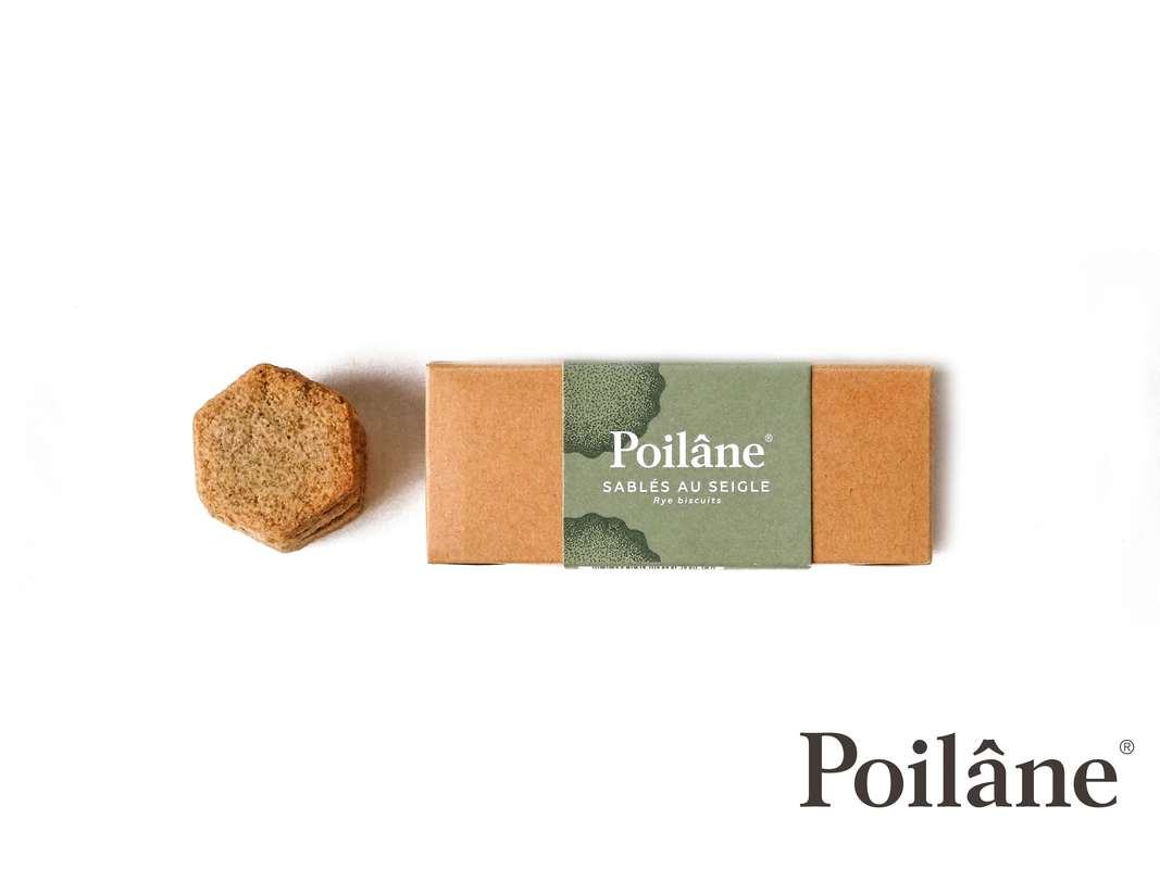 Mini-réglette sablés seigle, Poilâne (110 g)