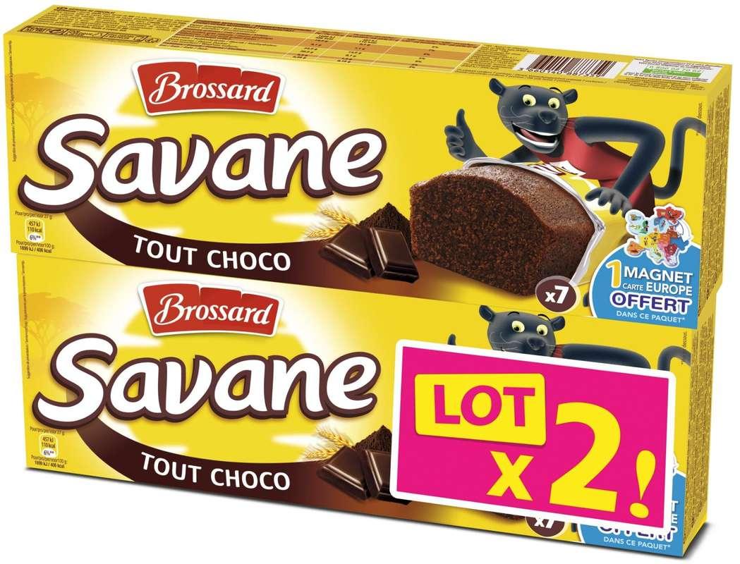 Mini Savane tout chocolat pocket, Brossard LOT DE 2 (2 x 7 x 27 g)