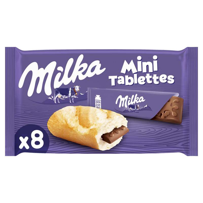 Mini tablettes Milka au lait (8 x 25 g)