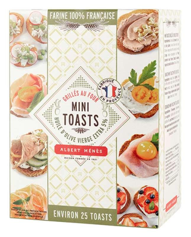 Mini toasts grillés à l'huile d'olive vierge extra, Albert Ménès (100 g)