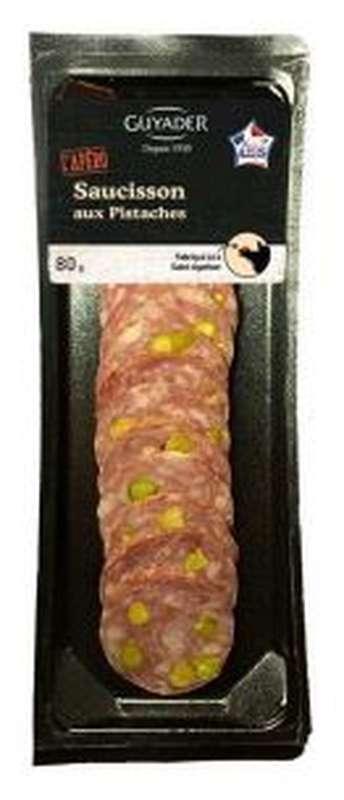 Mini-tranches de saucisson aux pistaches, Guyader (80 g)