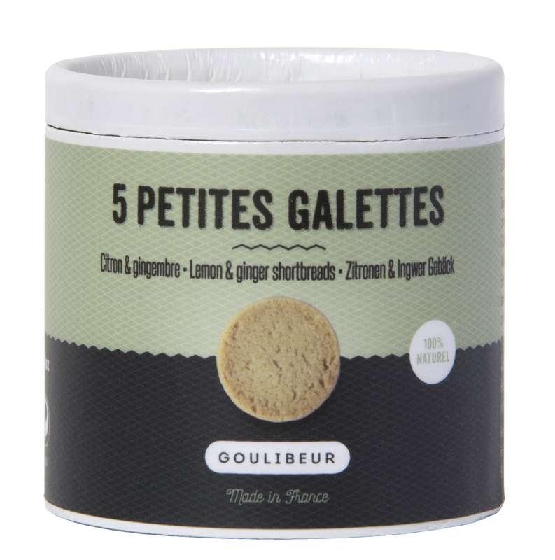 Mini tube 5 petites galettes citron & gingembre, Goulibeur (50 g)