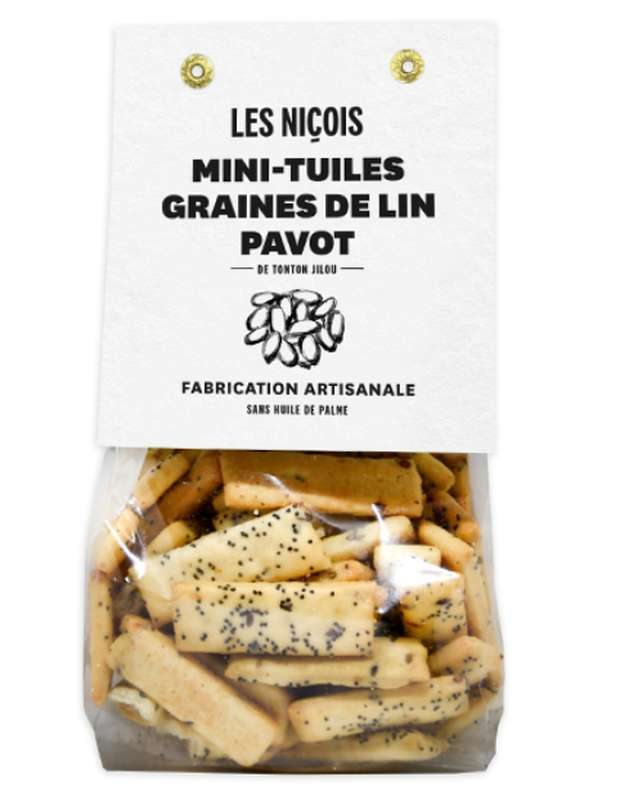 Mini-tuiles graines de lin pavot de Tonton Jilou, Les Niçois (200 g)