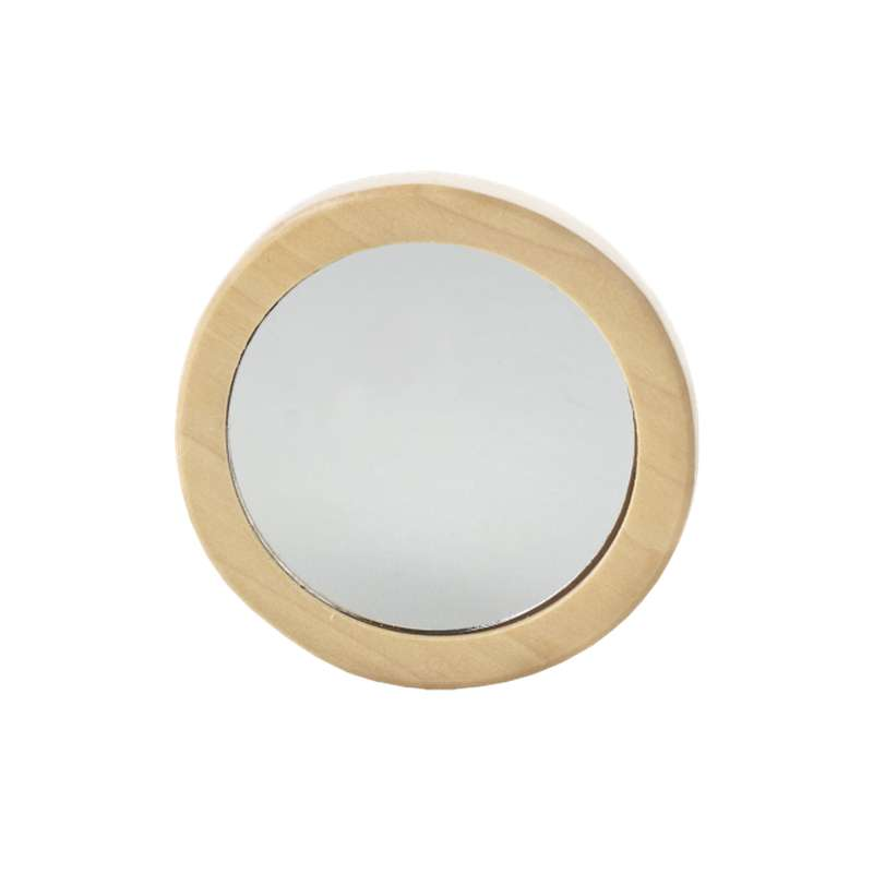 Miroir de sac en bois, Avril (x 1)