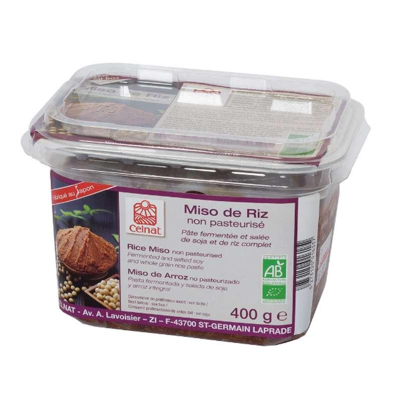 Miso de riz non pasteurisé - blanc BIO, Celnat (400 g)