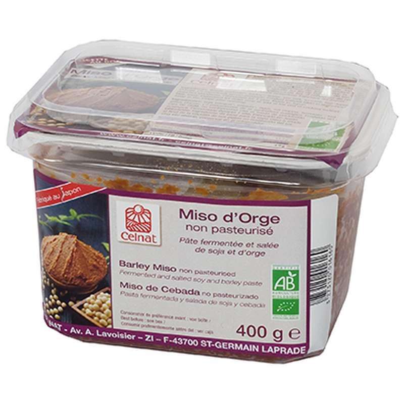 Miso d'orge non pasteurisé - rouge BIO, Celnat (400 g)