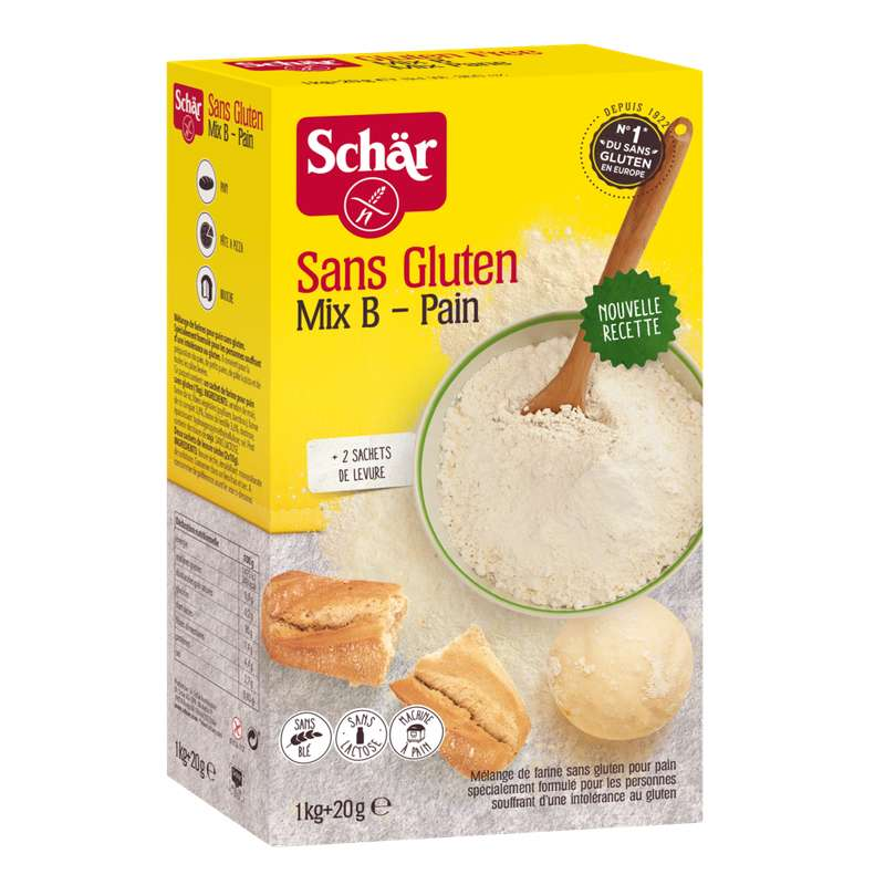 Mix B farine pour pain sans gluten, Schär (1,02 kg)