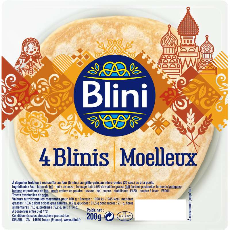 Blinis Moelleux, Blini (x 4, 200 g)