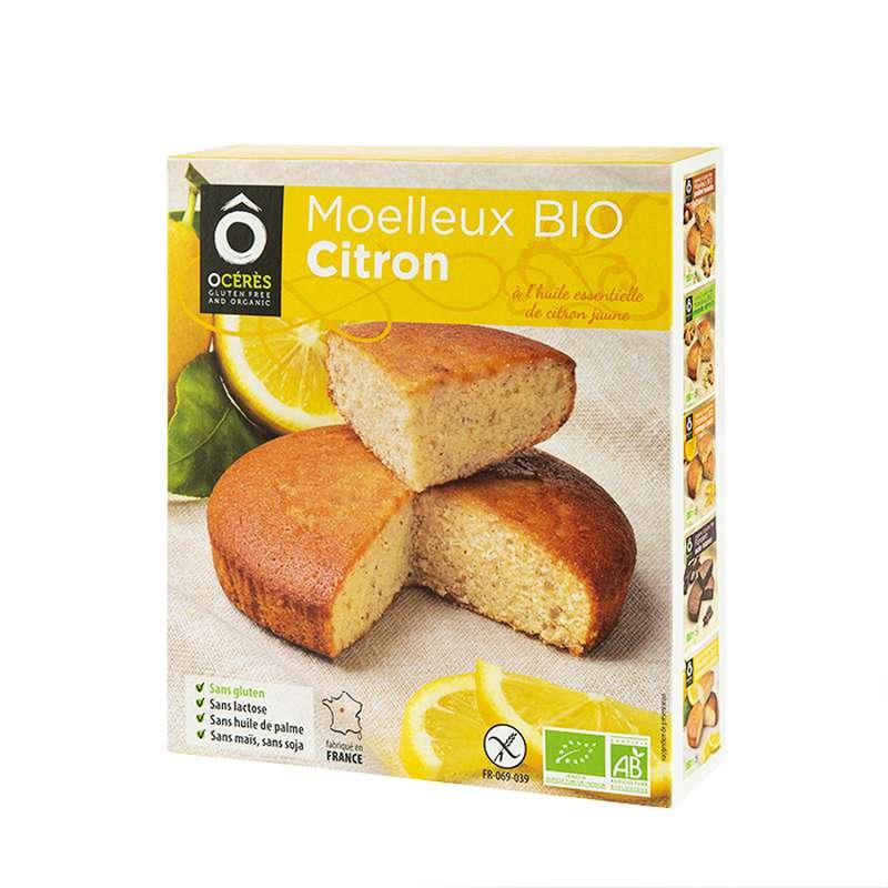 Moelleux Citron jaune de Sicile 3pers BIO sans gluten, Ô Cérès (170 g)