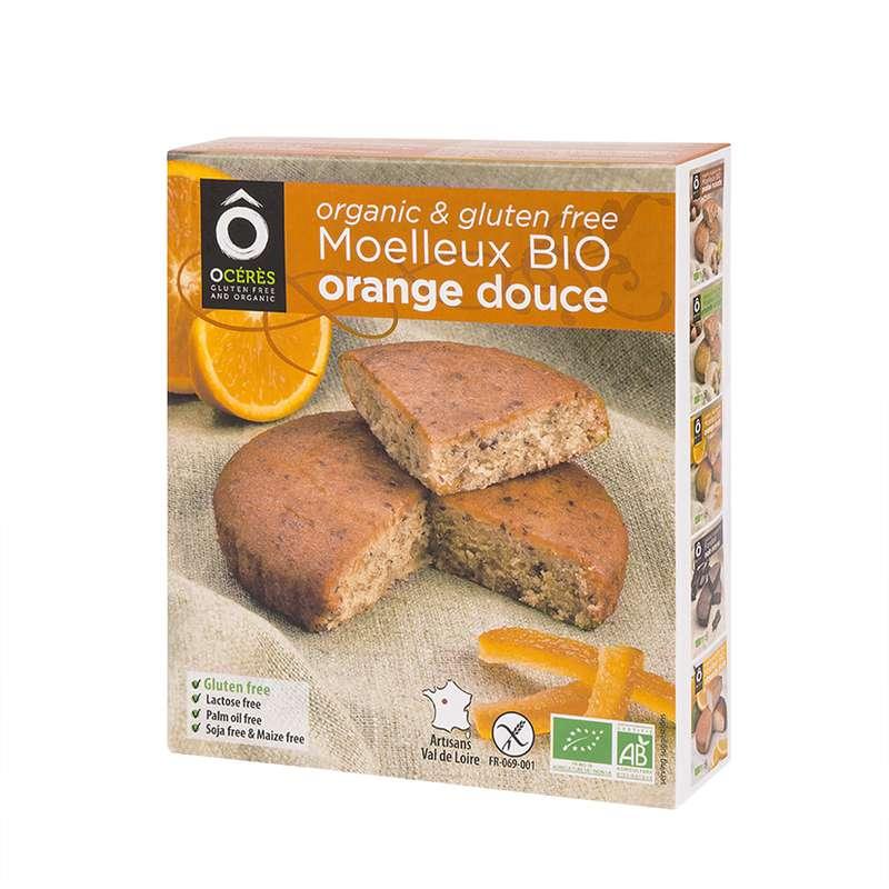 Moelleux Orange Douce 3pers BIO sans gluten, Ô Cérès (170 g)