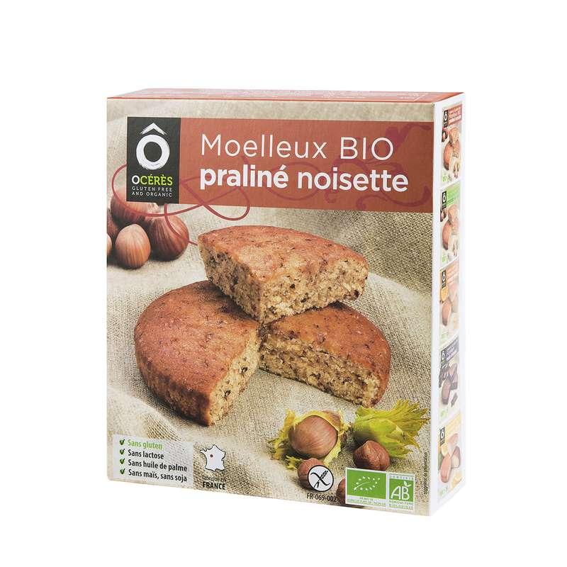 Moelleux Praliné Noisettes à partager BIO sans gluten, Ô Cérès (160 g)