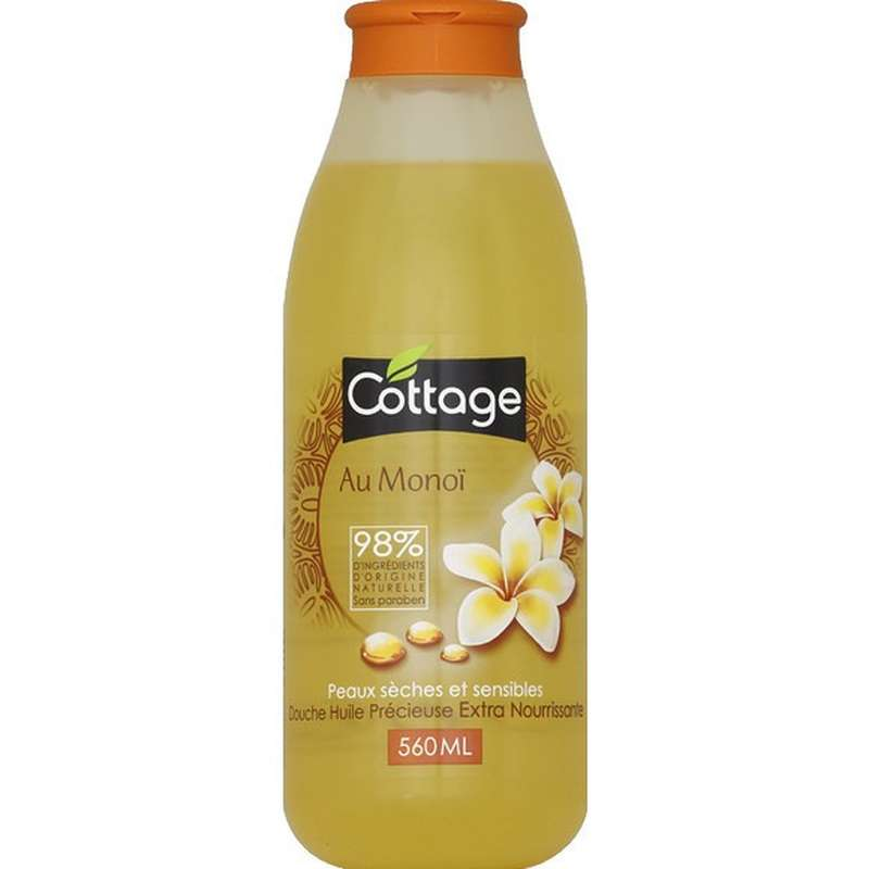 Douche huile Extra Nourrissante Monoi, Cottage (560 ml)