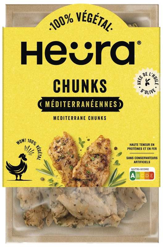 Morceaux de protéines végétales Chunks Mediterranean, Heura (160 g)