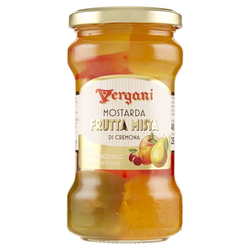 Mostarda Frutta Mista di Cremona, Vergani (400 g)