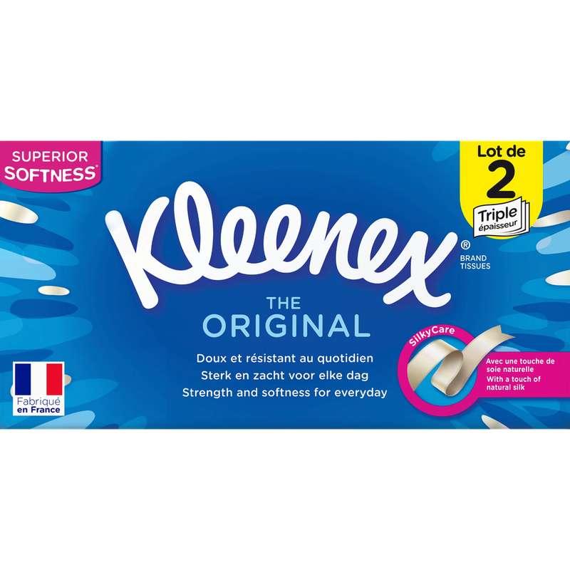 Boite de mouchoir duo box original, Kleenex (2 x 80)