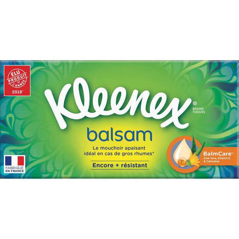 Boite de mouchoirs balsam, Kleenex (x 72)