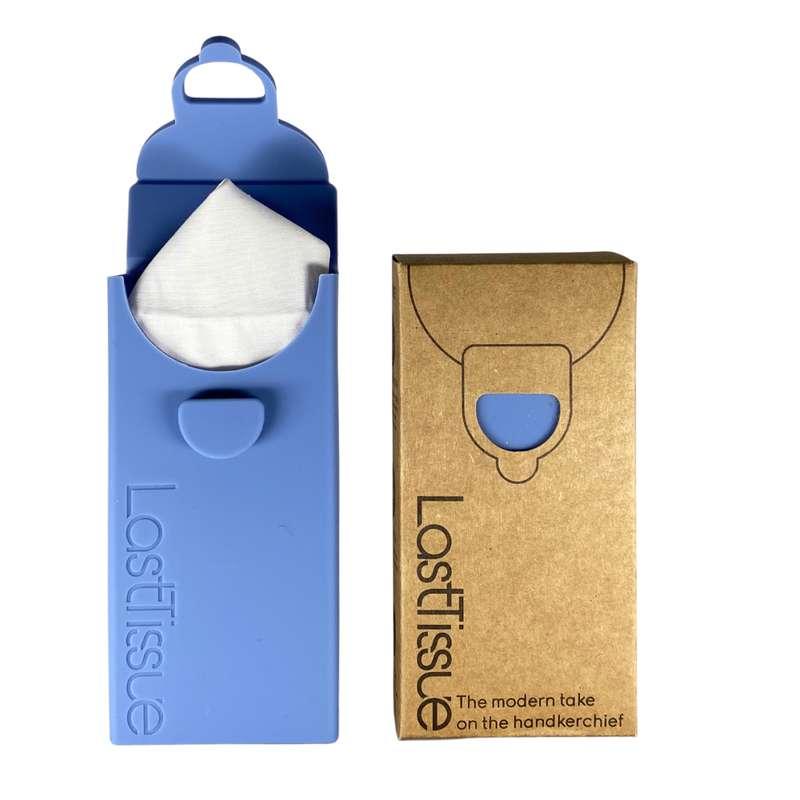 Mouchoirs réutilisables en coton organique Bleu, LastTissue (x 6)