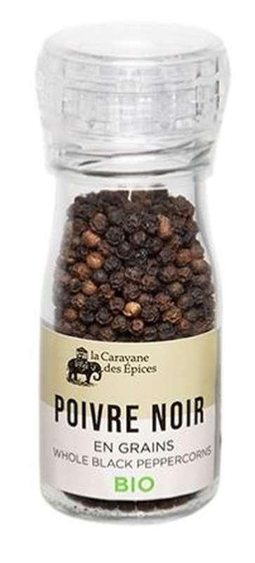 Moulin de poivre noir en grains BIO, Albert Ménès (40 g)