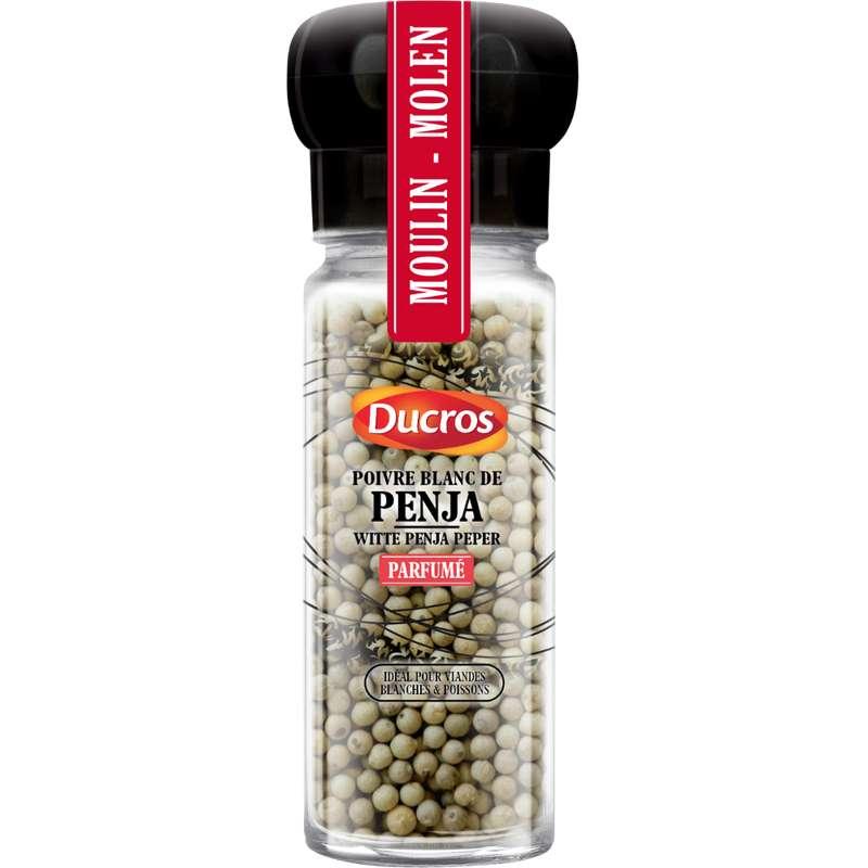 Moulin poivre blanc de Penja en grains, Ducros (48 g)