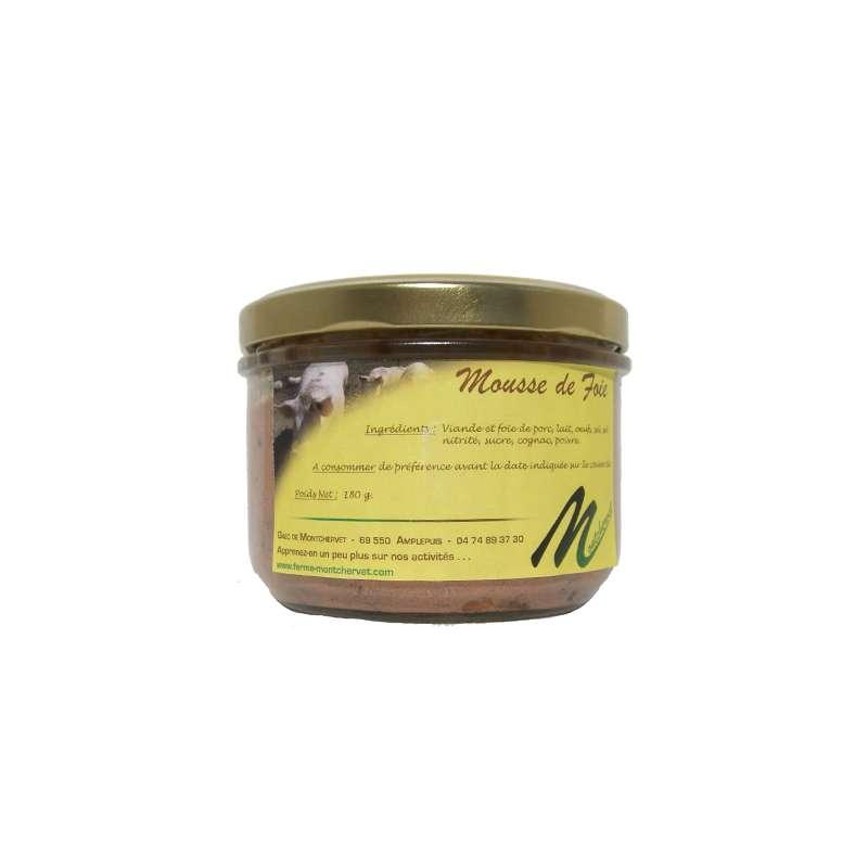 Mousse de foie en verrine, Ferme de Montchervet (180 g)
