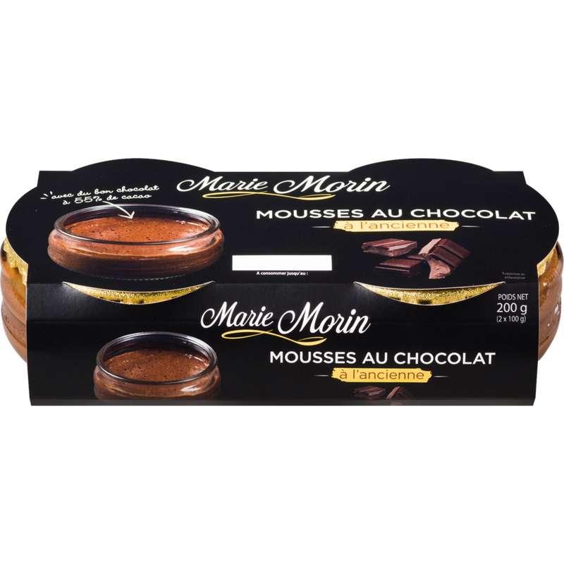 Mousse au chocolat noir, Marie Morin (2 x 100 g)