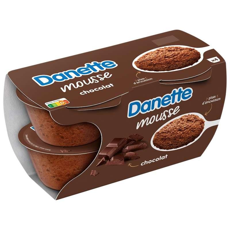 Danette Mousse chocolat (4 x 60 g)