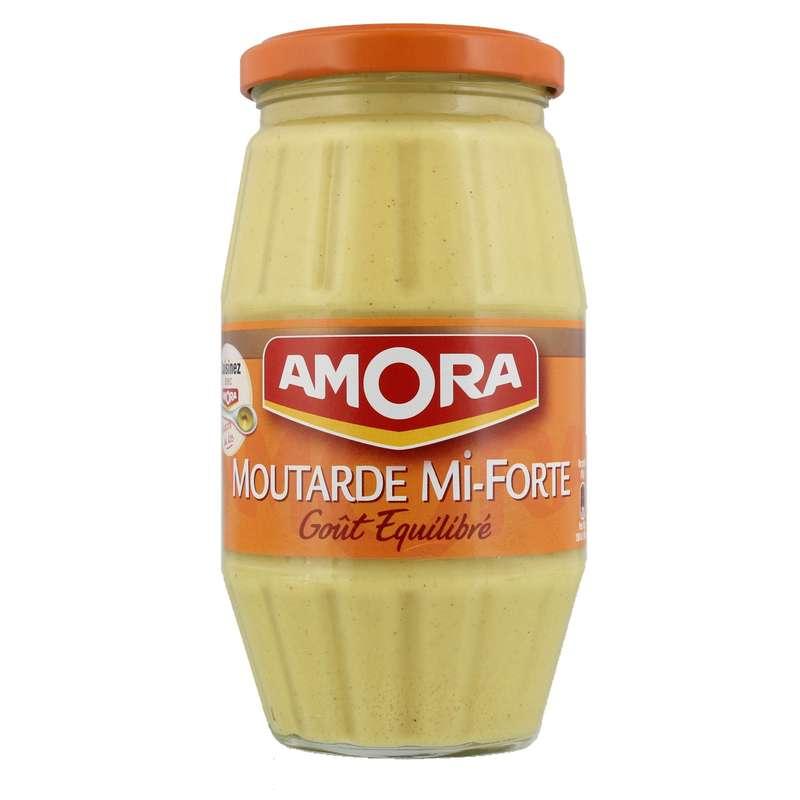 Moutarde mi forte, goût équilibré, Amora (415 g)