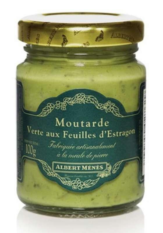 Moutarde forte aux feuilles d''estragon, Albert Ménès (100 g)