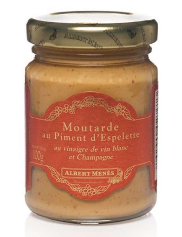 Moutarde au piment d'Espelette, Albert Ménès (100 g)