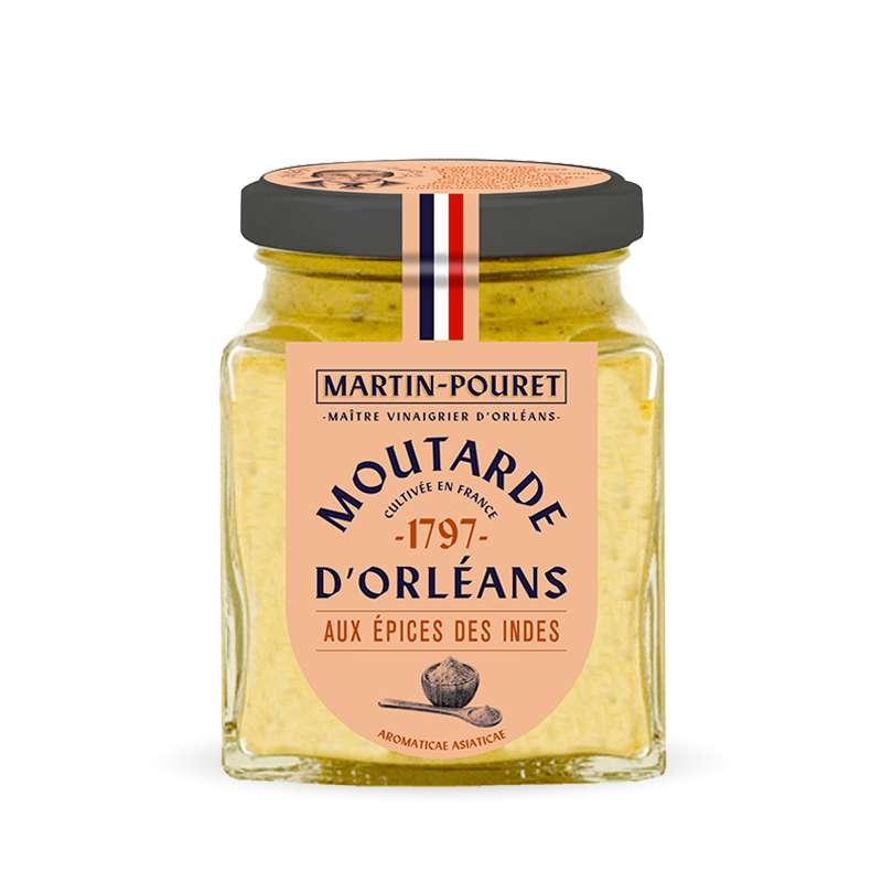 Moutarde d'Orléans aux épices des Indes, Martin Pouret (200 g)