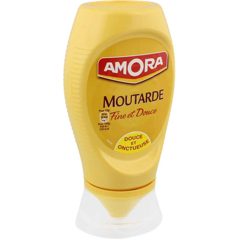 Moutarde douce flacon souple, Amora (260 g)