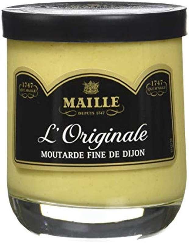 Moutarde fine de Dijon verre décoré, Maille (215 g)