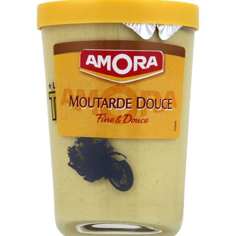 Moutarde douce verre tv, Amora (190 g)