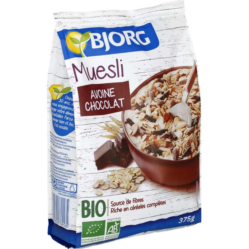Muesli avoine et chocolat BIO, Bjorg (375 g)