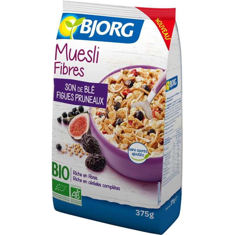 Muesli fibres son de blé BIO, Bjorg (375 g)