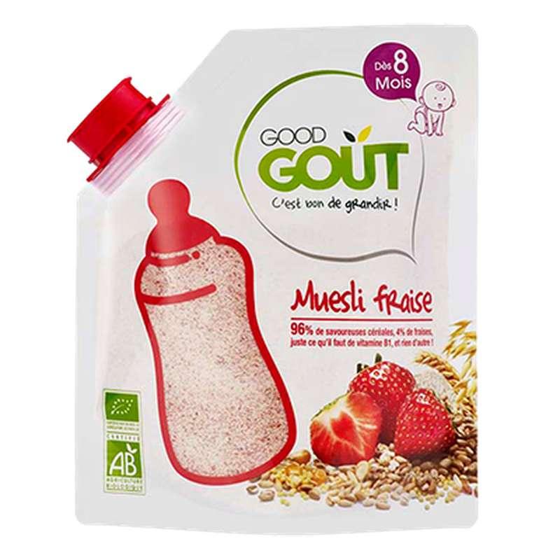 Muesli Fraise BIO - dès 8 mois, Good Goût (220 g)