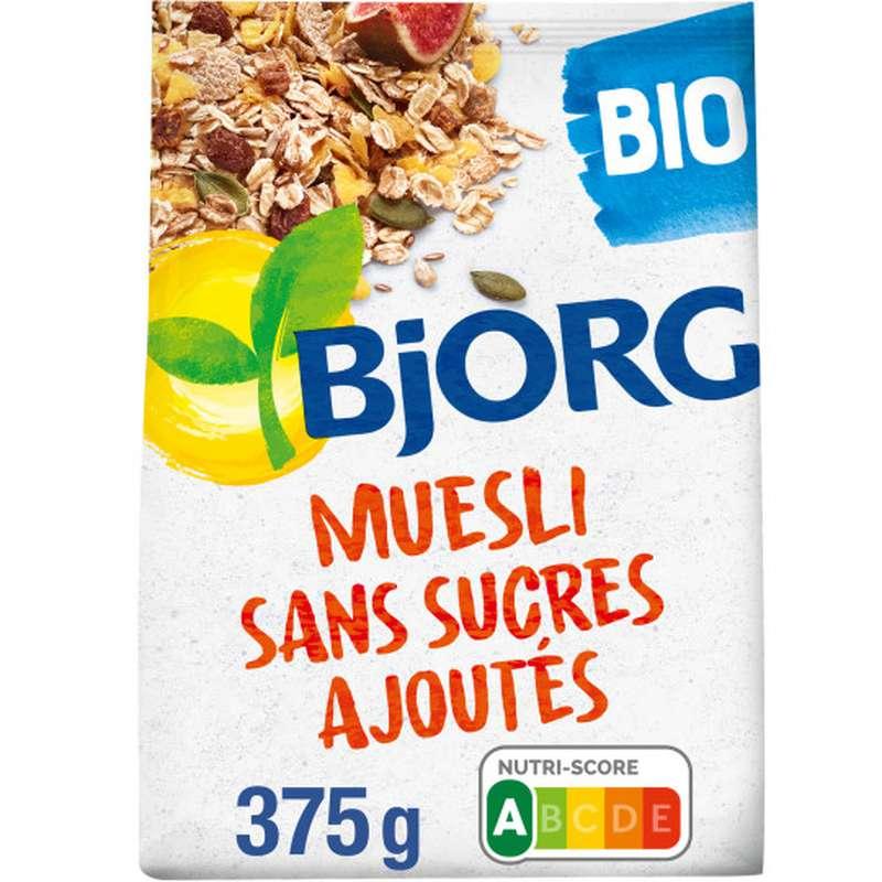 Muesli sans sucres ajoutés BIO, Bjorg (375 g)