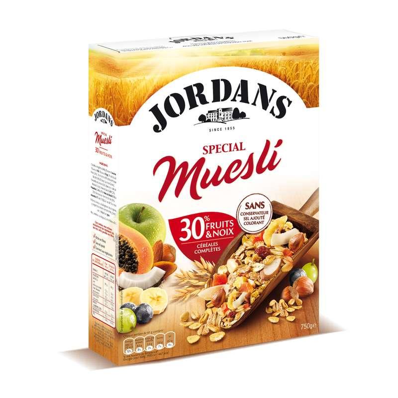 Spécial muesli 30% fruits & noix, Jordans (750 g)