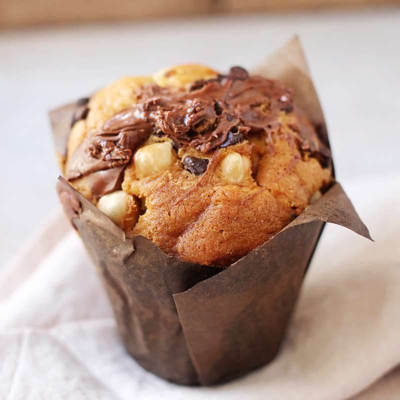Muffin pâte à tartiner chocolat-noisettes, Rachel's cake