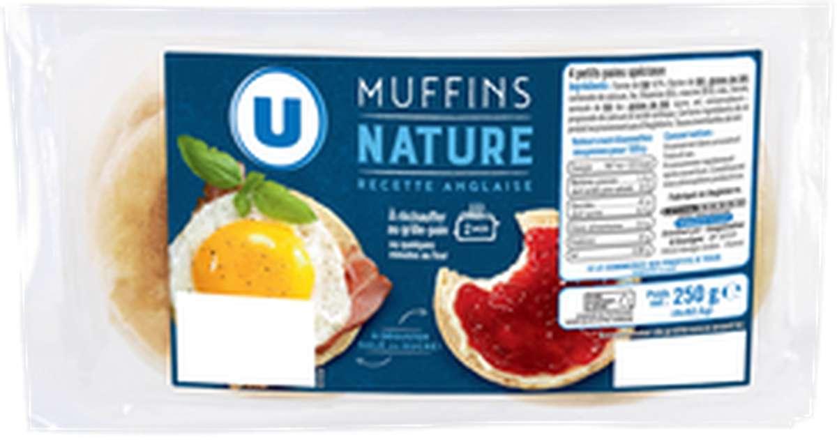 Muffins anglais nature, U (x 4, 250 g)