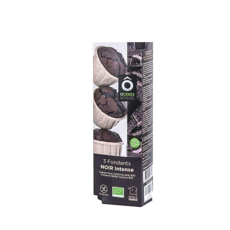 Muffins Fondants Chocolat Noir Intense BIO sans gluten, Ô Cérès (x 3, 165 g)