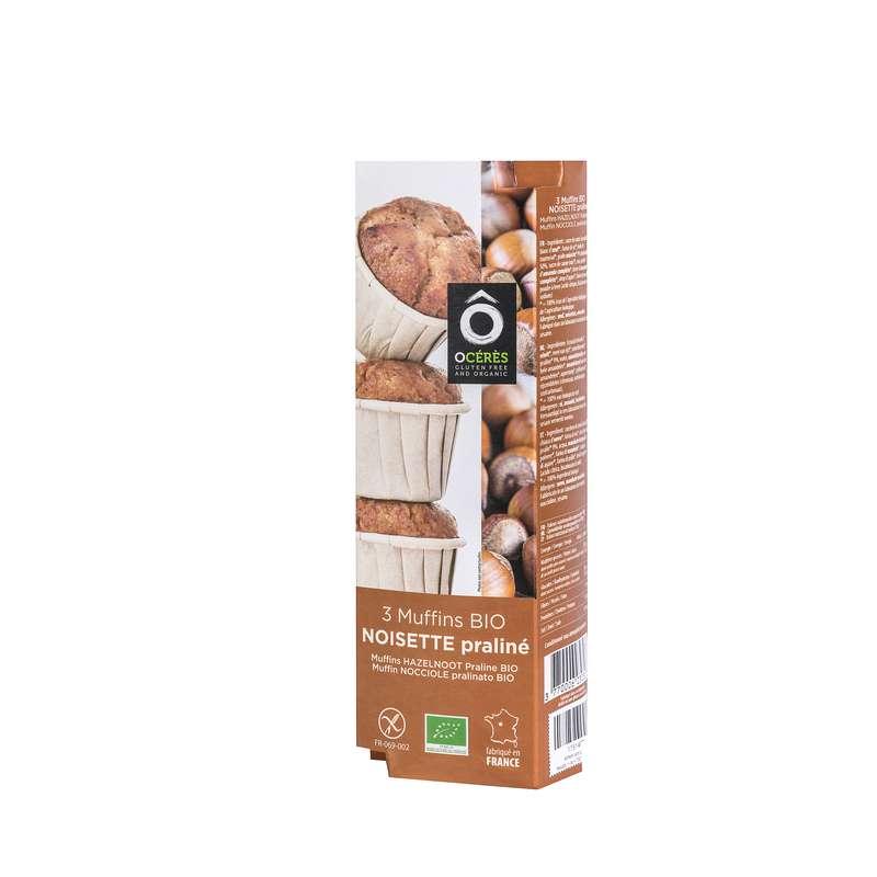 Muffins Noisette Praliné BIO sans gluten, Ô Cérès (x 3, 150 g)