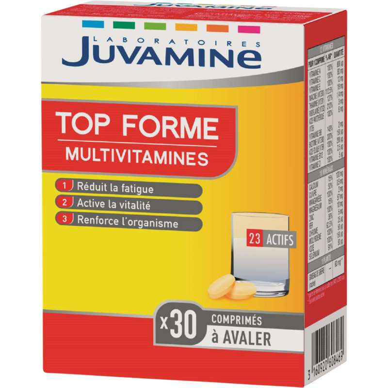 Multivitamines top forme, Juvamine (x 30 comprimés)