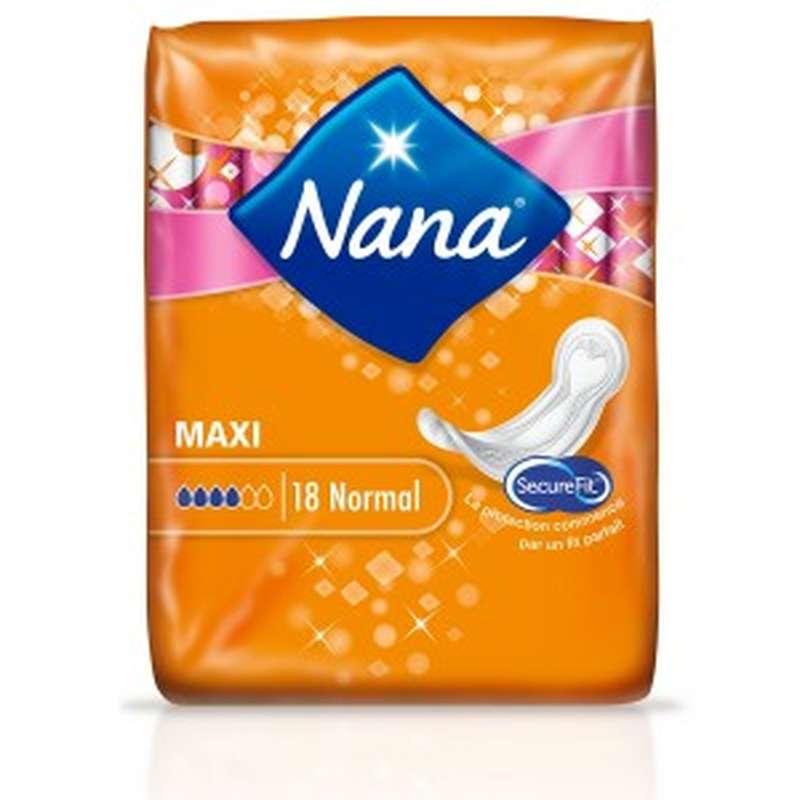 Serviettes Maxi normal, Nana (x 18)