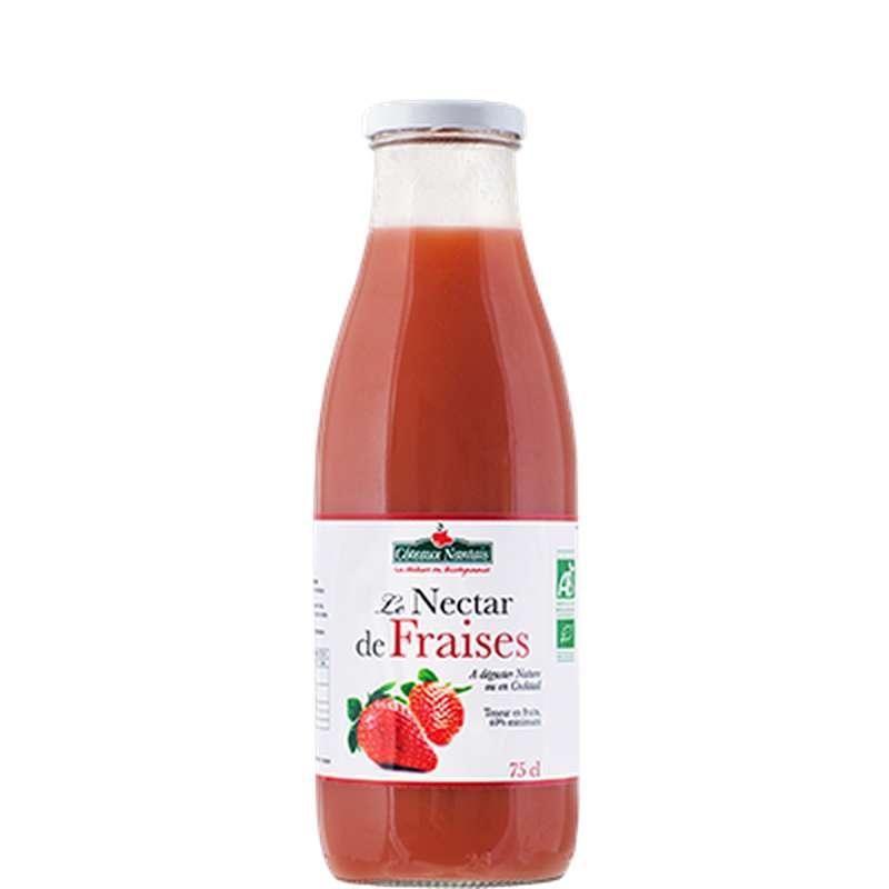 Nectar de fraises BIO, Coteaux Nantais (75 cl)