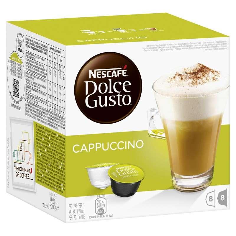 Café capsule Cappuccino, Dolce Gusto (x 16)