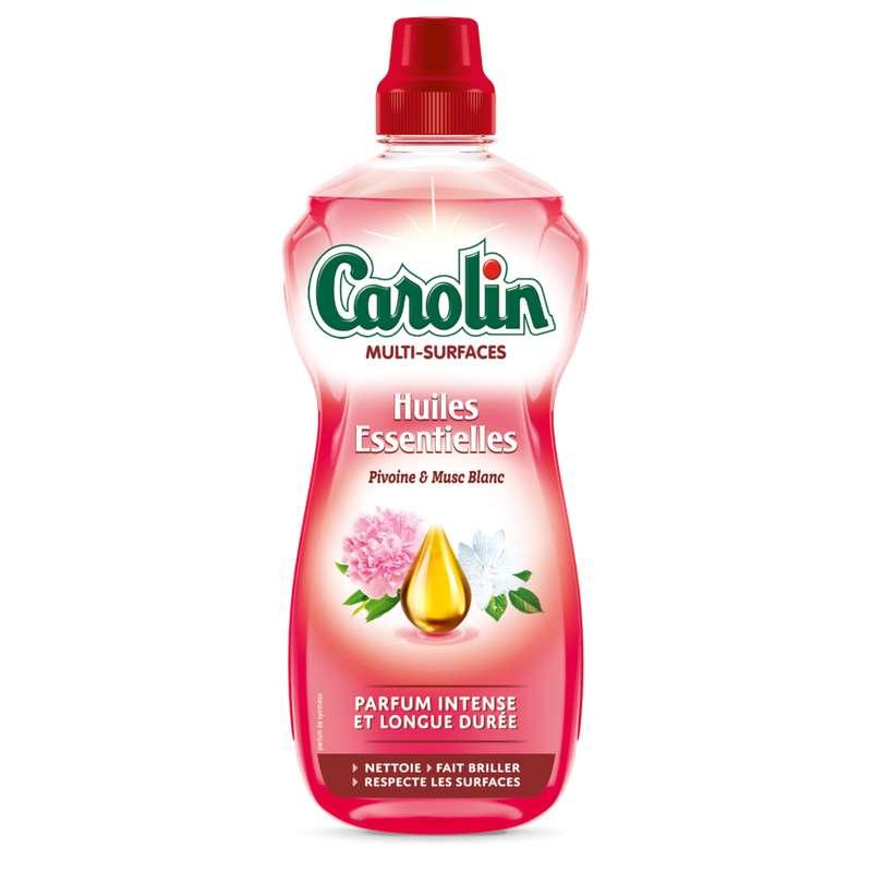 Nettoyant multi-surfaces aux huiles essentielles de pivoine & musc blanc, Carolin (1 L)