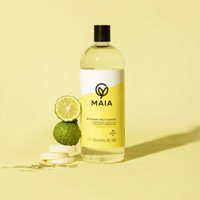 Nettoyant multi-usages bergamote et romarin, Maia (1 L)