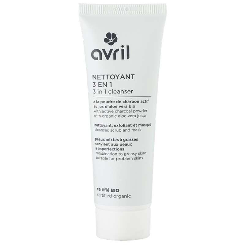 Nettoyant visage 3 en 1 certifié BIO, Avril (50 ml)